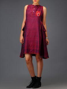 Buy Purple Ikat Cotton Dress Online at Jaypore.com