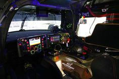 The multi-function steering wheel of the Porsche 919 Hybrid race car, has 24 buttons and switches on the front and six paddles on the reverse side. Ferdinand Porsche, Sports Car Racing, Race Cars, Porsche 919 Hybrid, Volkswagen, Automobile, 24h Le Mans, Ww2 Aircraft, Modified Cars
