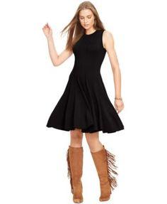 Lauren Ralph Lauren Sleeveless Fit & Flare Sweater Dress