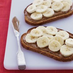 Banana & Almond Butter Toast | MyRecipes.com #MyPlate #grain #fruit