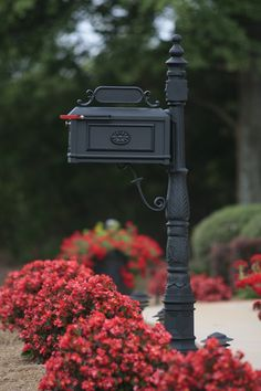 Better Box Mailbox Black with Red Flowering Decor - Simply Gorgeous