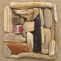 Driftwood square  collage with 3d found objects in nature.    instead of bringing it back we could photograph with pinhole, holga, or just simply draw it.  nice idea for a day class at the bay.