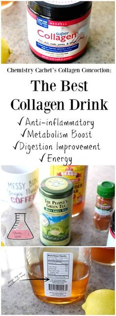 Chemistry Cachet's Collagen Concoction: The Best Collagen Supplement! This is an anti-inflammatory drink, metabolism boosting drink details on chemistrycachet.com