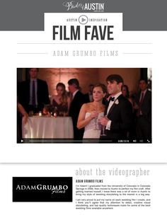 You're sure to feel yourself tearing up when you watch this sweet wedding highlight video by Austin wedding videographer Adam Grumbo Wedding Films! We know we did! Such a perfect toast from the father of the bride and a wonderful memory for the newlyweds to cherish forever. Thanks to Adam Grumbo Wedding Films for sharing with us! Cheers!
