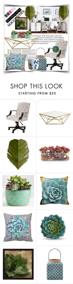 """Decorate With: Cacti + Succulents"" by pinkymonster ❤ liked on Polyvore featuring interior, interiors, interior design, home, home decor, interior decorating, Eichholtz, Nuevo, Varaluz and John-Richard"