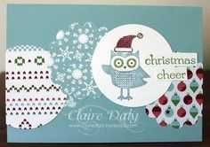 Made a variation of this design. Card from Claire Daly @ Art with Heart.