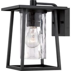 Filament Design Monroe 1-Light Outdoor Mystic Black Incandescent Wall Lantern-CLI-GH8203705 - The Home Depot
