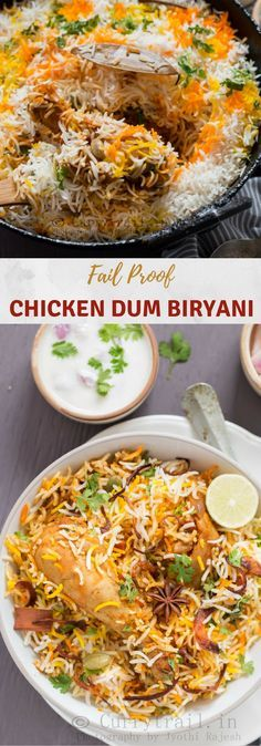 Chicken dum biryani is a ever green classic that needs no introduction in parts of countries like Persia, India and many others! Dum biryani is goodness that comes in layers! Layers of rice and meat cooked with it's own steam pressure until rice is fluffy and meat cooked just to perfection. A lengthy cooking process but all totally worth it! #chickenrecipes #chicken #chickendinner #dumbiryani #chickendumbiryani #indianrecipes