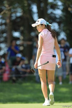 Like some other sport, golf requires players to wear proper golf attire, including ladies golf attire for women golfers. Most golf courses require dress codes, strictness of observance that varies on Girls Golf, Ladies Golf, Women Golf, Lpga Golf, Cute Golf Outfit, Sexy Golf, Golf Training Aids, Golf Attire, Golf Wear