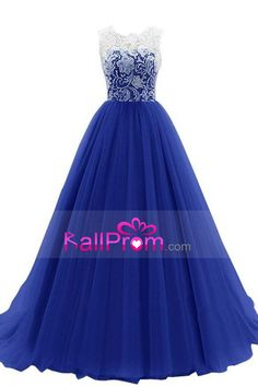 2016 Scoop A Line Prom Dresses Tulle