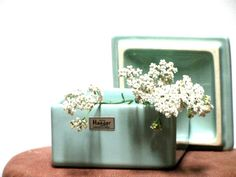 Vintage Royal Haeger Covered Box Blue Green Two Piece Collectible Home Decor Tagged. $15.00, via Etsy.