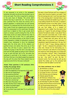 Short Reading Comprehensions 5