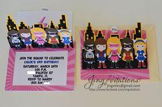 Jingvitations: Supergirl Party Invitations