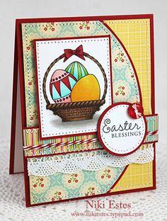 Easter Blessings Handmade Card by appleblossompaperie