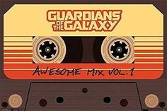 Guardians Of The Galaxy Mix Tape Poster Film Movie Cassette Wall Art Large Maxi