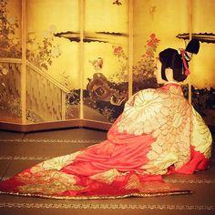 吉野太夫の衣裳 Yoshinotayu's costume.  上洛(じょうらく)した昌幸をもてなすシーンより  #NHK #大河 #taiga #ドラマ…