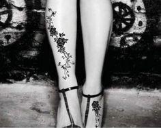 Pink Flower Shoulder Tattoo Floral Tattoo Vintage by TattooCrush
