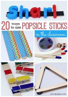 20 Different Ways to Use Popsicle Sticks for Learning and Fun in Your Preschool Pre-K or Kindergarten Classroom Fine Motor Activities For Kids, Preschool Learning Activities, Preschool Curriculum, Kindergarten Teachers, Learning Games, Teaching Ideas, Preschool Ideas, Shape Activities, Preschool Classroom
