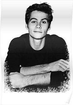 'Dylan O'Brien' Poster by Pineapplexpress Teen Wolf Stiles, Teen Wolf Dylan, Dylan O'brien, Dylan Thomas, Stydia, Sterek, Maze Runner, Dylan O Brien Tumblr, Tenn Wolf