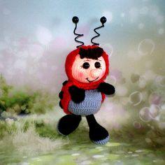 Amigurumi Toy Fun Ladybird Crochet Knitted Miniature Plush