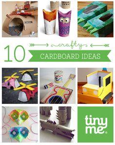 10 Cardboard Crafts - Tinyme Blog