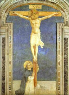Fra Angelico. Christ on the Cross Adored by St. Dominic.