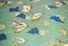 Handmade origami paper  White cranes on pale blue by PapelonPaper
