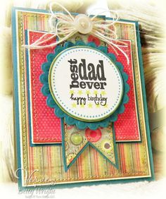 Masculine birthday card by Betty Wright using Verve Stamps.