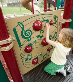Ring-a-Bell Panel - 4 Bells & Clappers Let Children Create Music and Songs - Landscape Structures