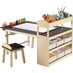 is it weird that i want this? Guidecraft Deluxe Art Table and Chair Set