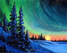 Wow, the aurora borealis captured with acrylic. Major inspiration for a future painting.