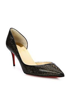 Christian Louboutin - Lasercut Patent Leather D'Orsay Pumps