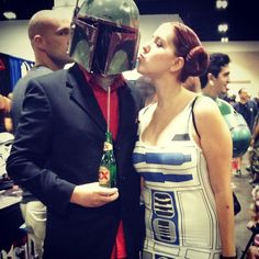 Pin for Later: 21 Star Wars Costumes For Couples Strong With the Force Boba Fett and R2-D2