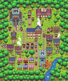 Army of Trolls - Pixel ∙ Editorial ∙ Advertising ∙ Humour - Illustrator at Folio illustration agency Pokemon Towns, Minecraft Banner Designs, Video Game Sprites, 2d Game Art, Pixel Animation, Game Textures, Art Village, Pixel Art Games, Kairo