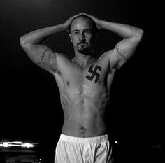 I don't want to love him here but he's so beautiful!! Minus the neo-nazi Tat of course!!