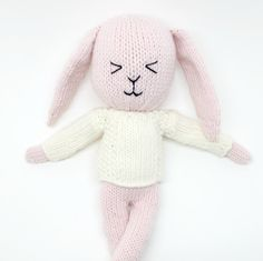 KNITTING PATTERN - Blanche The Cheeky Knitted Bunny *** INSTANT DOWNLOAD - PDF Knitting Pattern *** This listing is for the *** PDF PATTERN