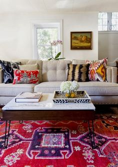 Love the mix of colors and patterns.