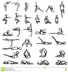 100 best hand drawn yoga pose ides images  poses how to