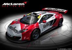 McLaren MP4-12C GTR Rendering.