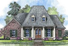 Homey And Appealing Acadian House Plan - 56371SM   Acadian, European, French Country, Southern, 1st Floor Master Suite, Butler Walk-in Pantry, PDF, Corner Lot   Architectural Designs