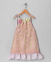 This dress is a comfortable blend of soft and sweet. Voile is topped with a layer of lace and tied in a bow at the shoulder for an easy-to-slip-on fit.By Moxie & MabelBody and lining: 100% cottonLace: 100% polyesterMachine wash; tumble dryMade in th...