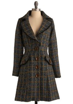 Harvest Time Coat. The brittle fall air really put you in the mood for a warm gathering with your friends. #modcloth
