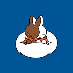 Miffy bye-byeki (Russian for a little kid going to sleep) with a friend. Dick Bruna is a legend with his illustrations of Miffy and co. (I nearly put this into design, there's a bit of cross-over).