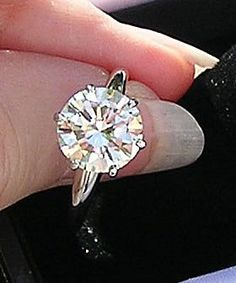 1940's 2.82ct diamond solitaire in a tiffany style setting. gorg!