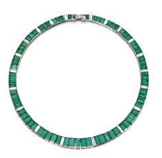 Platinum, Emerald and Diamond Necklace, Oscar Heyman & Brothers