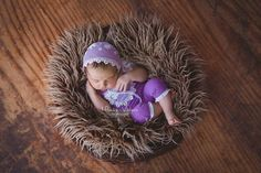 So beautiful newborn set that includes: newborn romper and bonnet. Made of in a sweet lilac soft cotton fabric and laces in white color. This set would be great in a newborn photo session or as a b...