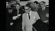 EVGENIA GL Shot of Aristotle Onassis arriving at London Airport