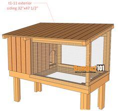 wooden rabbit hutch plans Home decor Pinterest Rabbit hutch