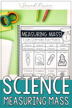 Teaching students about measuring mass in science? Grab fun hands on activities, experiments, and worksheets for mass that your students will love. Measuring Mass, Student Teaching, Hands On Activities, Interactive Notebooks, Worksheets, Students, Science, Fun, Flag