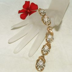 "Spectacular Retro Modern Crown Trifari Baguette Spray & Pave Rhinestone Vintage Bracelet.  See me at the ""Vintage Jewelry Star"" shop at http://www.rubylane.com/shop/vintagejewelrystar!!"